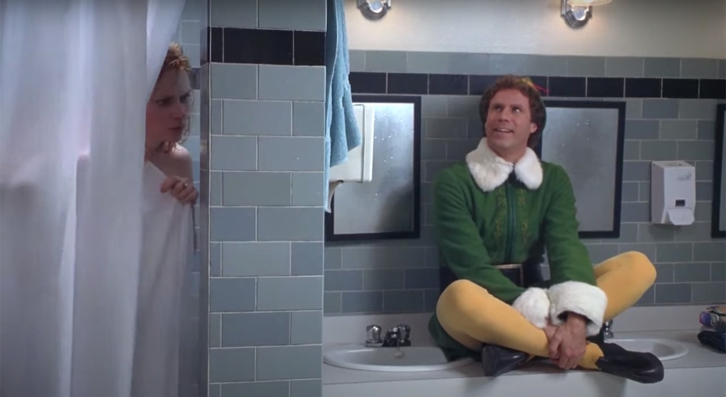 The Shower Scene from the Movie Elf