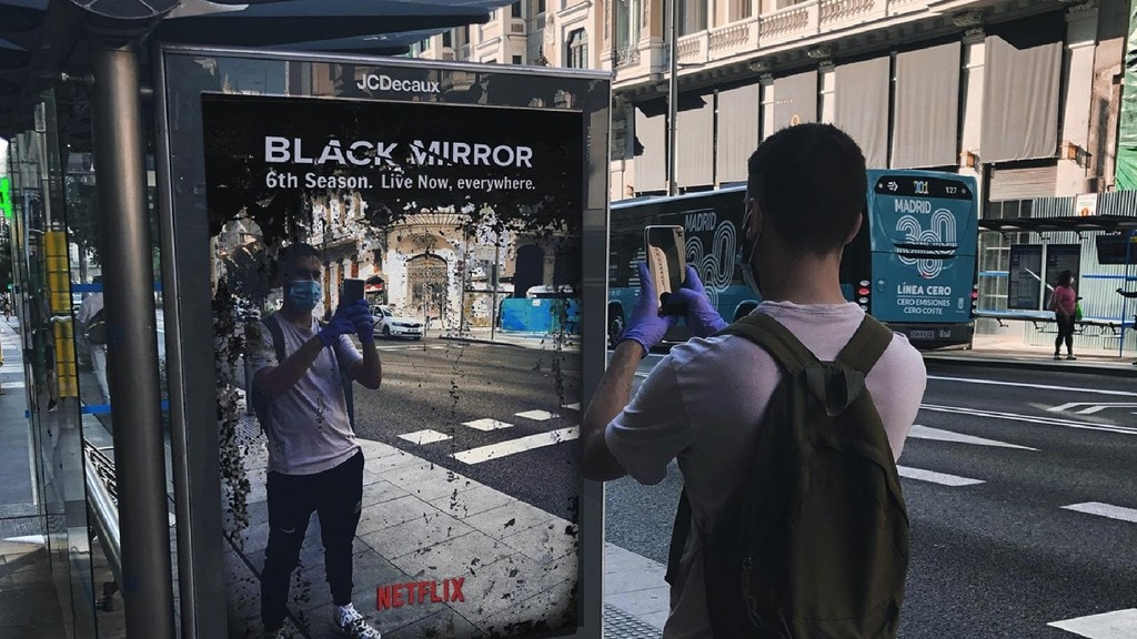 The humorous Black Mirror advert in Madrid